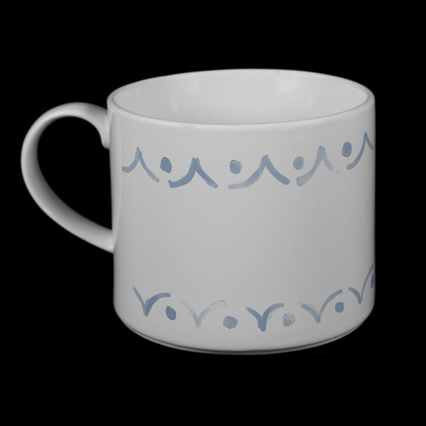 "Porcelain Mug featuring ""Borders"" Artwork • 3 Color Options  Porcelain Mugs- The French Press Coffee Company"