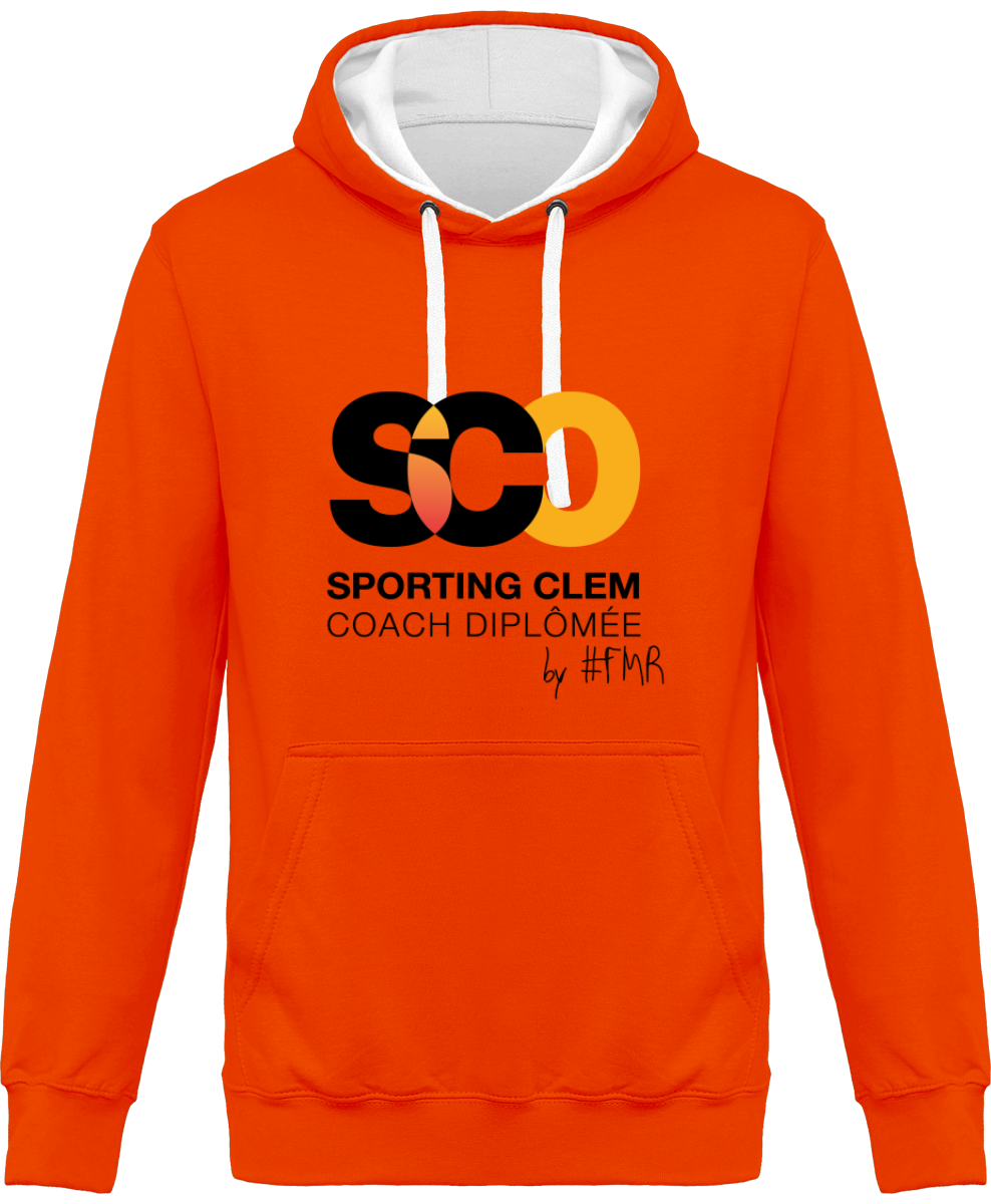 "Sweat Capuche Bicolore "" SPORTING CLEM X FREE MOOD RIDE"""