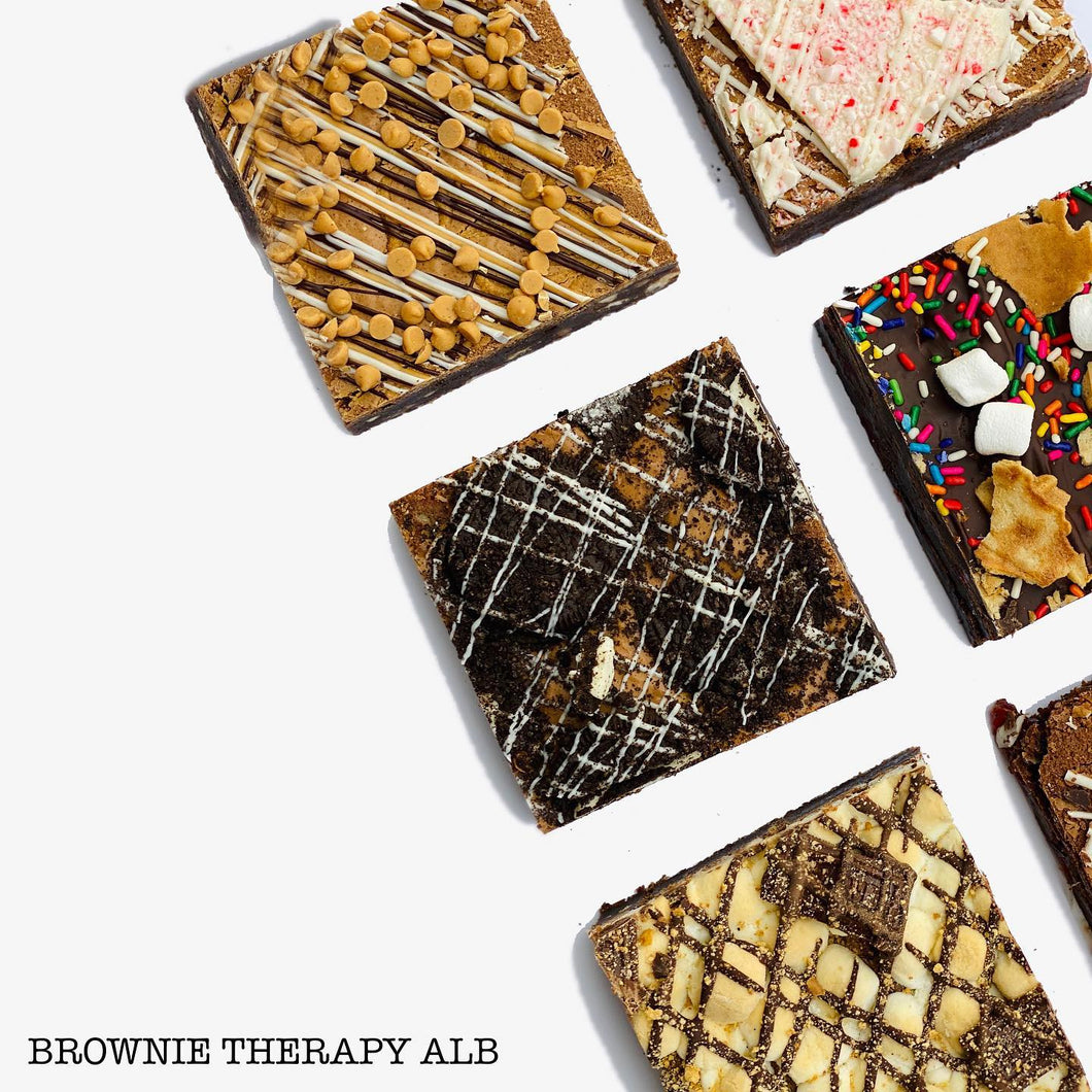 BROWNIE THERAPY: SALTED CARAMEL BOURBON PECAN