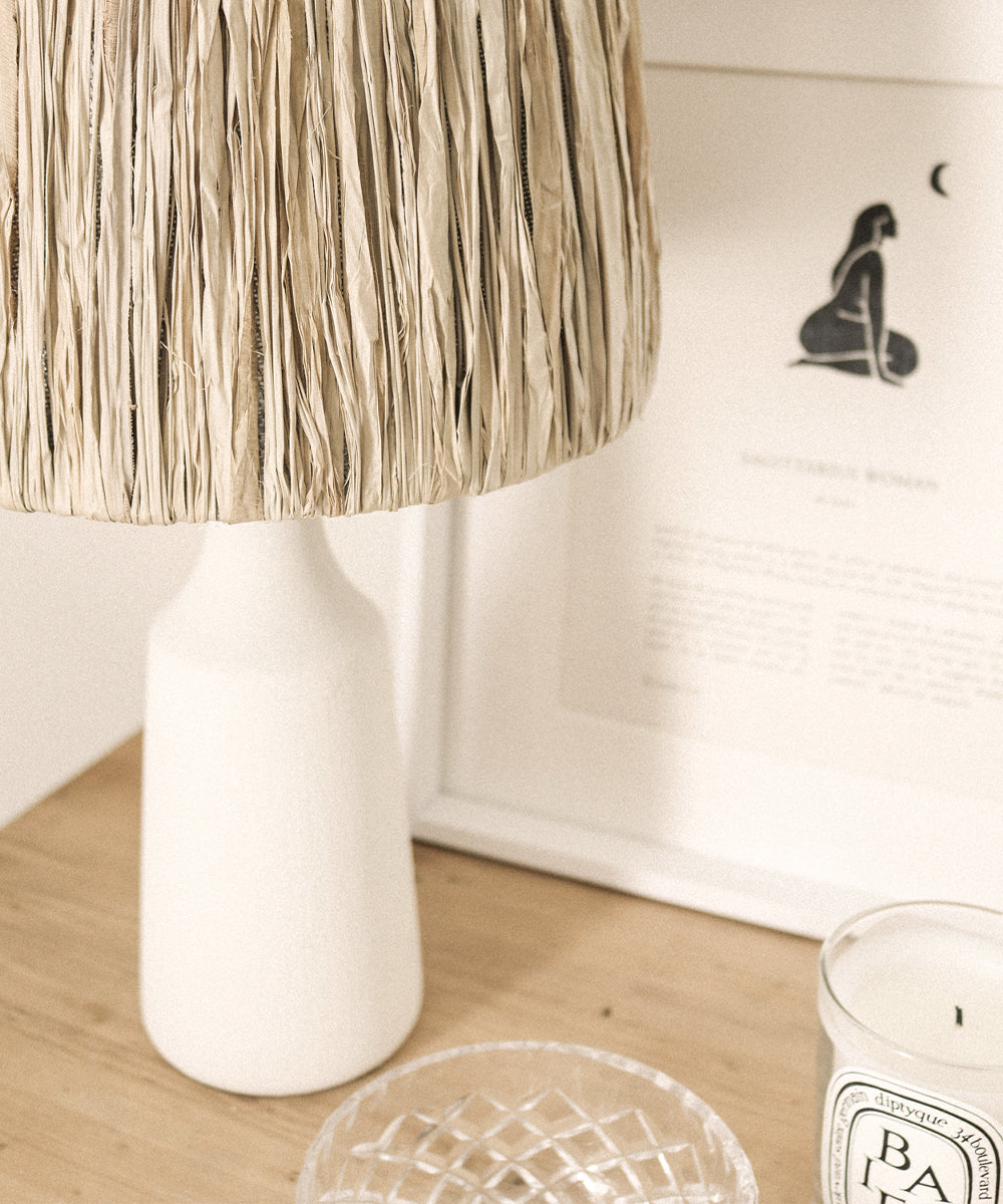 Diy Raffia Lamp Part 2 Sunday Lane
