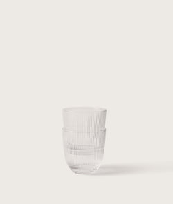 Ribbed Tumbler Clear