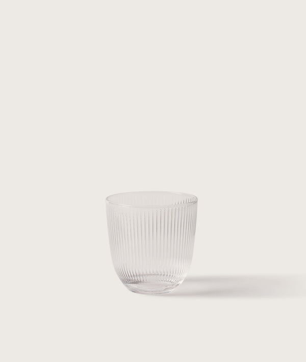 Ribbed Tumbler Clear Single