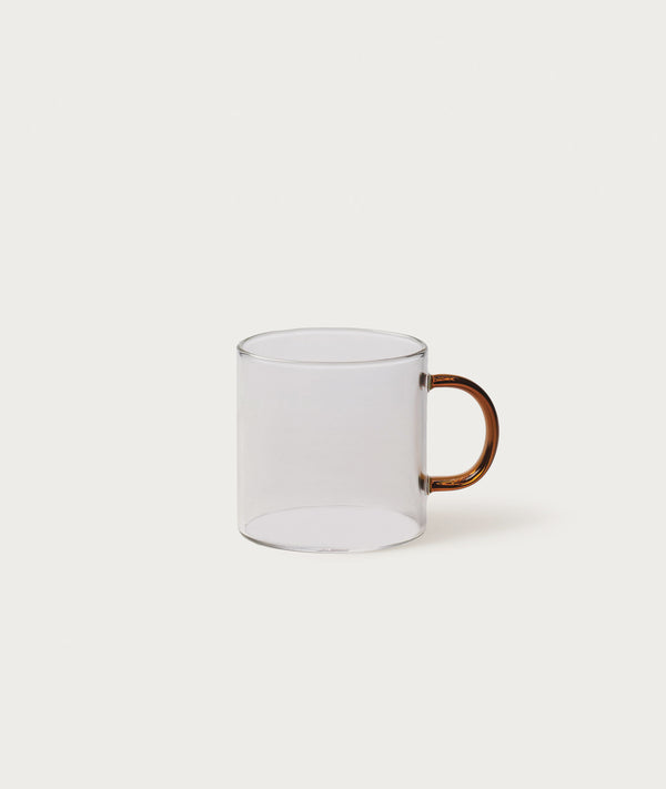 Glass Mug Amber Set