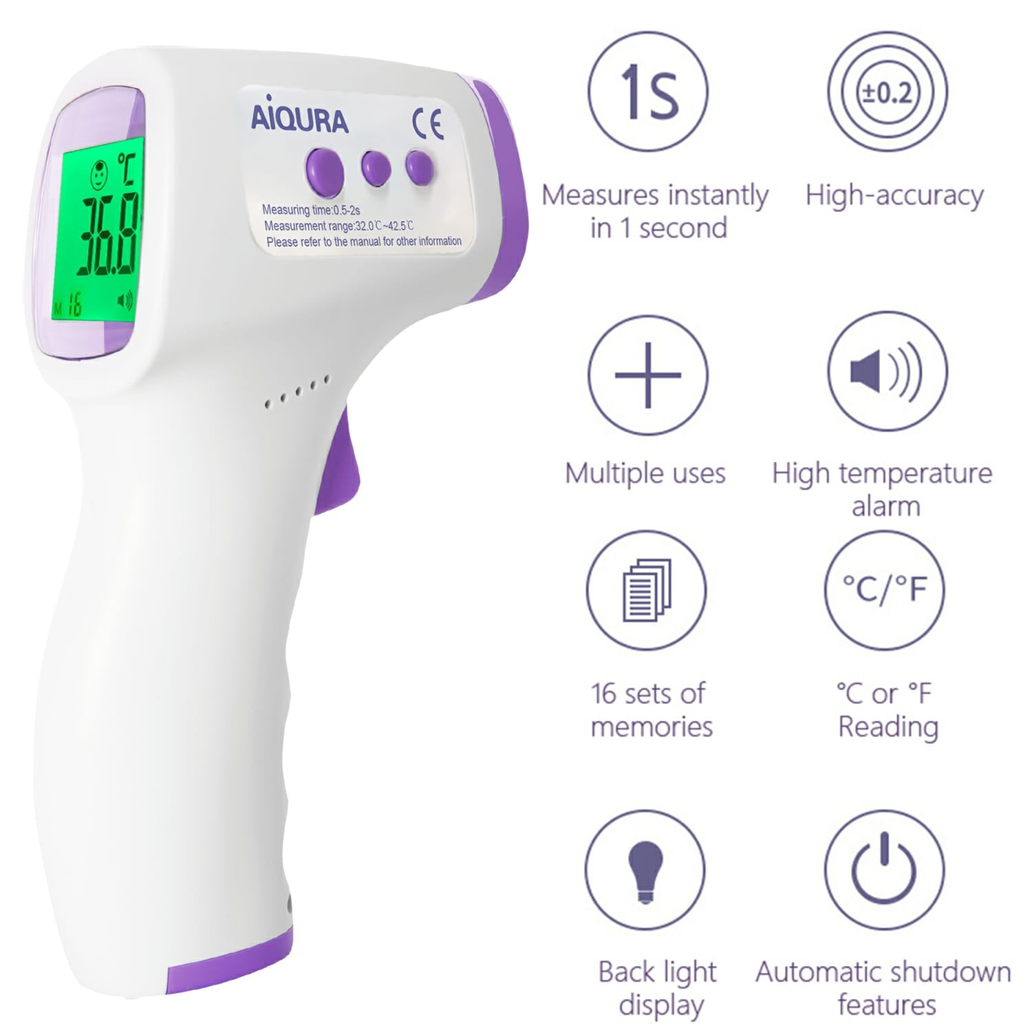Medical Infrared Thermometer | 510k Medical Grade Certified | FDA Certified