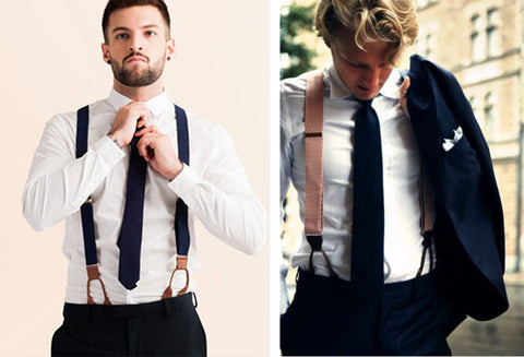 d80b0c6f82bf Wearing suspenders to work can be as formal as Michael Douglas's Gordon  Gekko Master of the Financial Universe look in the movie Wall Street, as we  discuss ...