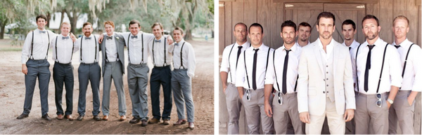 """0157db1637f7 Suspenders have long been a staple of a groom's wedding day attire, which  has been undergoing a welcome change, from less """"stuffy"""" to more playful  and ..."""