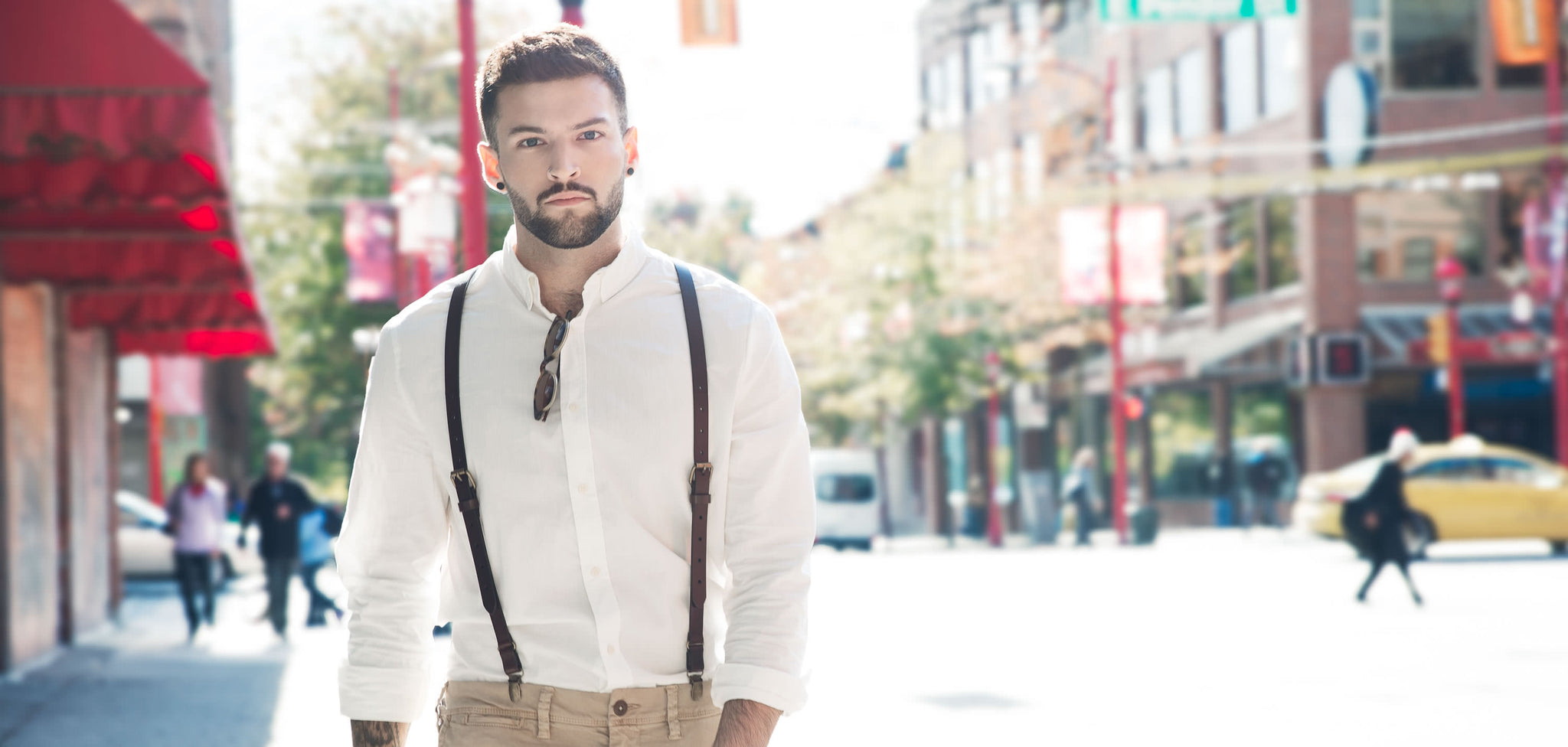 Fashion style How to suspenders wear casually for lady