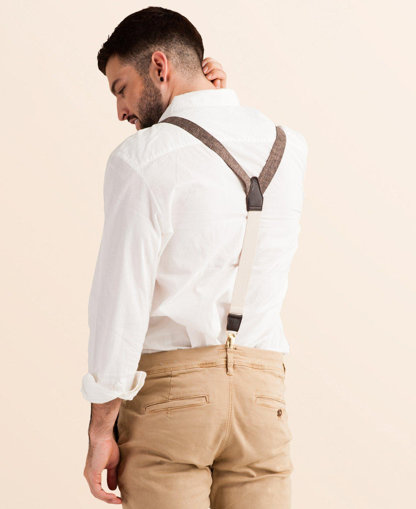 Autumn Harvest - Classic Brown Suspenders - JJ Suspenders