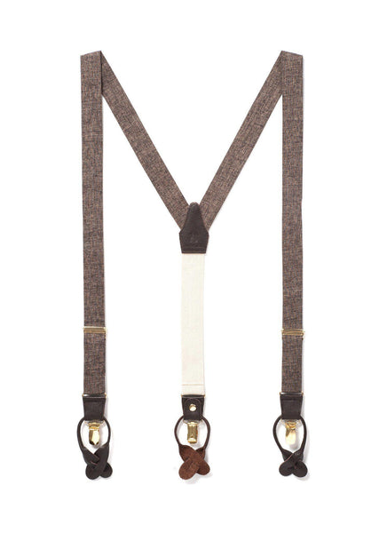 Autumn Harvest - Classic Brown Suspenders-JJ Suspenders