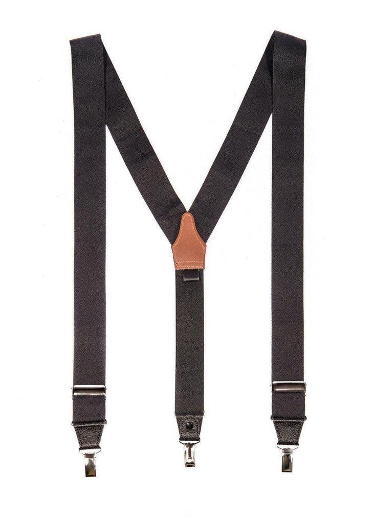 Back to Black - Formal Black Suspenders (clip only) - JJ Suspenders