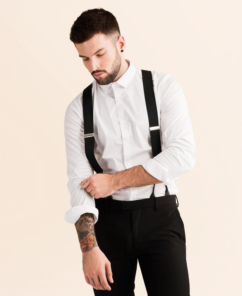 Back to Black - Formal Black Suspenders - JJ Suspenders