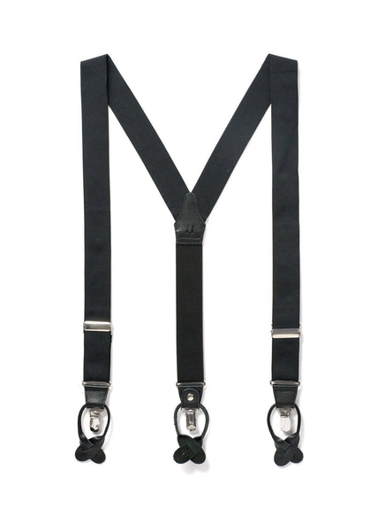 Back to Black - Formal Black Suspenders-JJ Suspenders