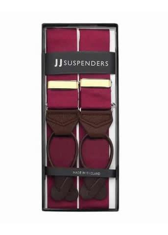Berry Dramatic - Formal Burgundy Suspenders - JJ Suspenders