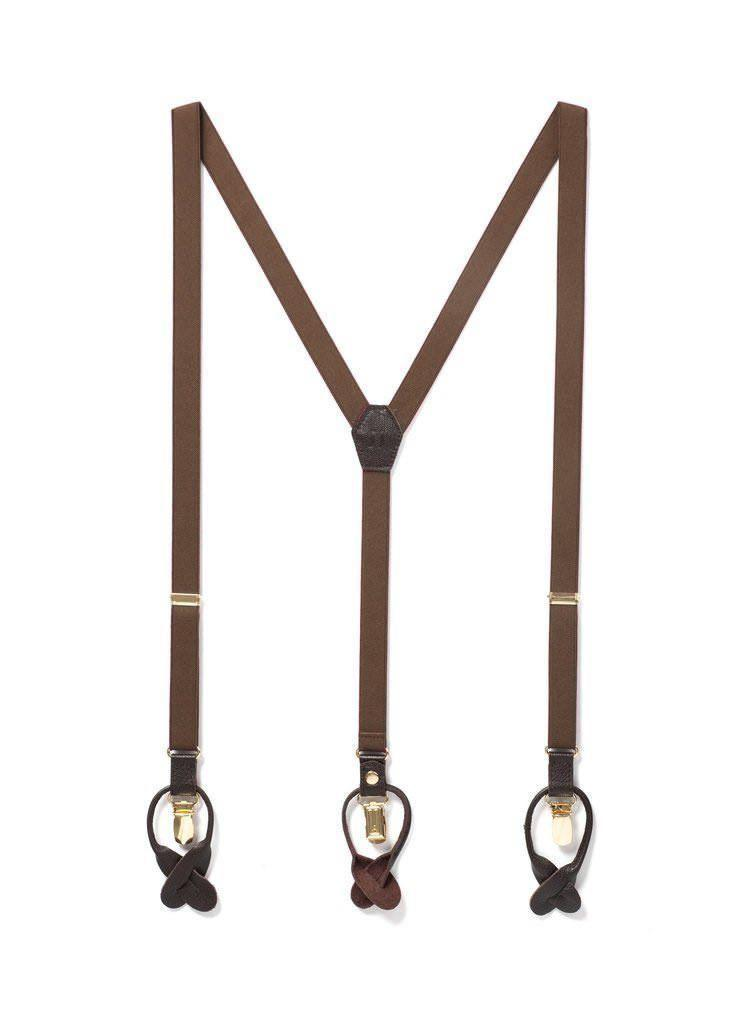 Cinnamon Stick - Skinny Brown Suspenders - JJ Suspenders
