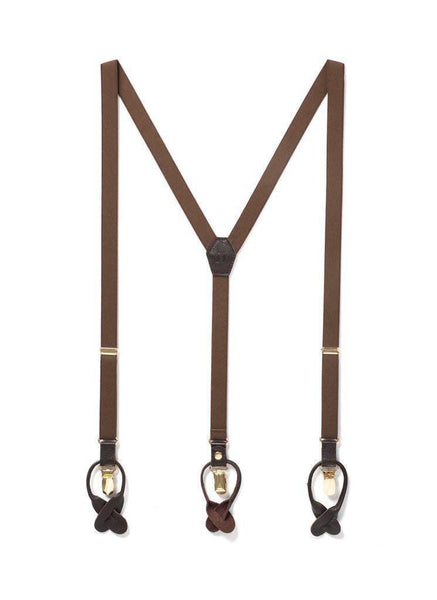 Cinnamon Stick - Skinny Brown Suspenders-JJ Suspenders