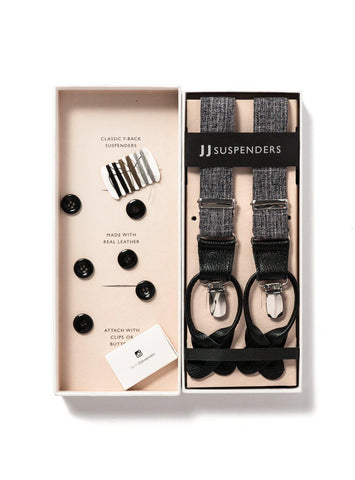 Cobblestone Cruiser - Grey Suspenders-JJ Suspenders
