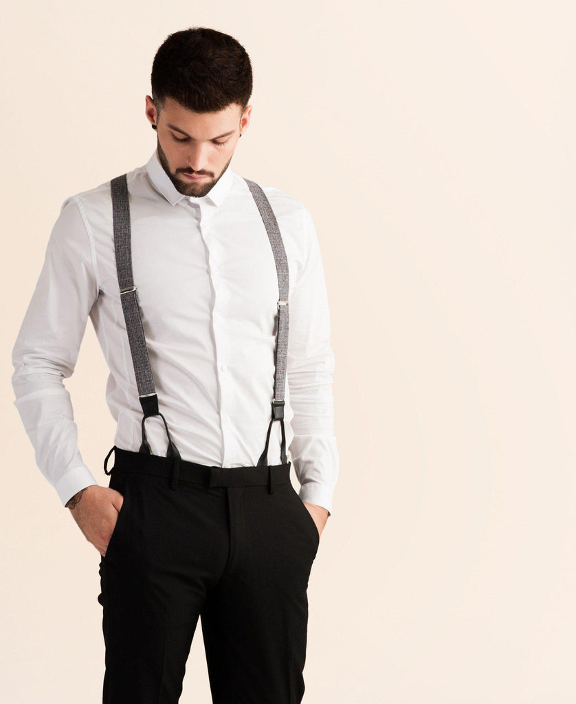 Cobblestone Cruiser - Grey Suspenders - JJ Suspenders