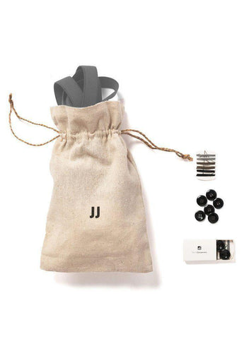 Cool Steel - Skinny Grey Suspenders-JJ Suspenders