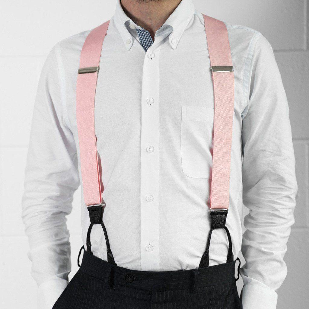 Coral Blush - Formal Pink Suspenders-Taggs