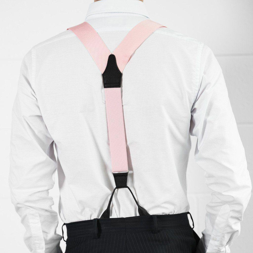 Coral Blush - Pink Suspenders (Button-on)