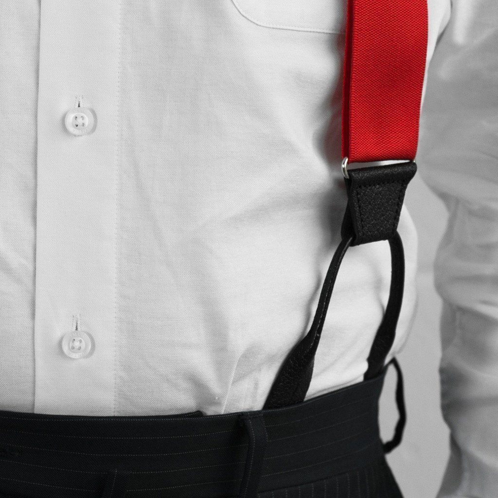 Crimson Sun - Formal Red Suspenders - JJ Suspenders