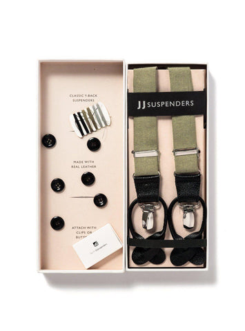 Egyptian Sands - Classic Olive Suspenders-JJ Suspenders