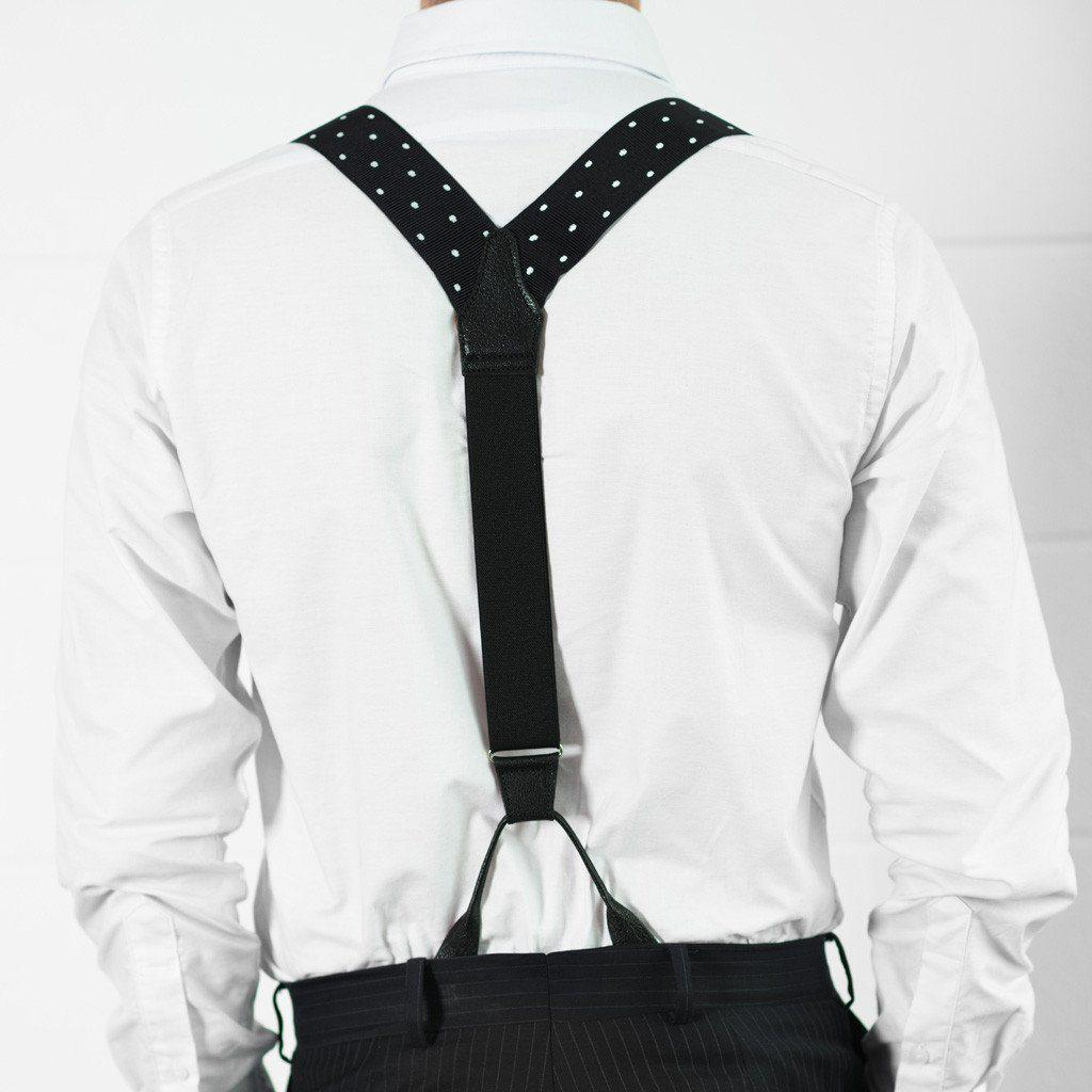 Missed a Spot - Spotted Black & White Suspenders-Taggs