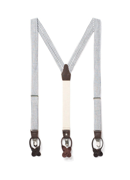 Peaceful Meadows - Seersucker Suspenders - JJ Suspenders