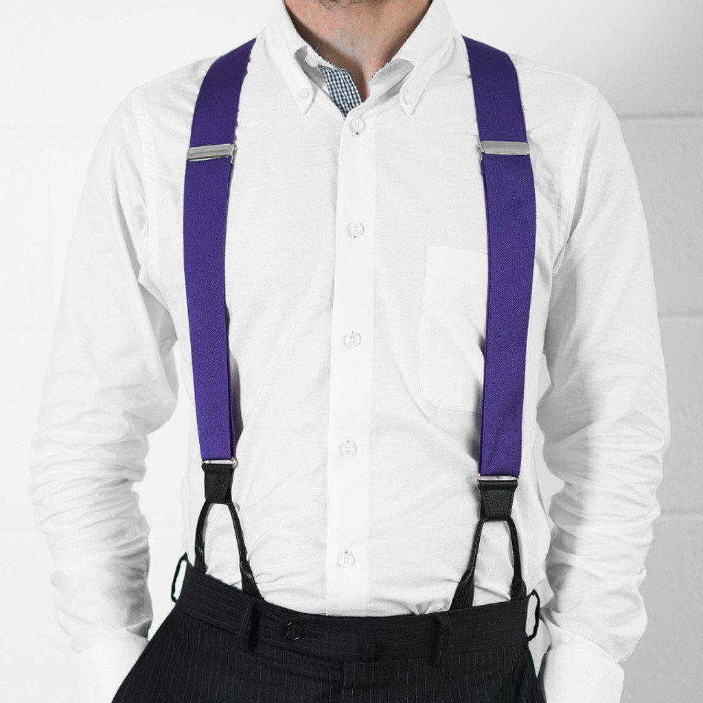 Purple Haze - Formal Purple Suspenders - JJ Suspenders