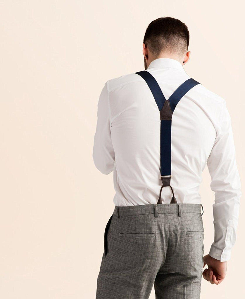 Royal Sapphire - Formal Navy Suspenders - JJ Suspenders