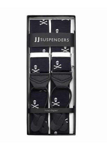 Skull and Bones - Formal Patterned Suspenders-Taggs