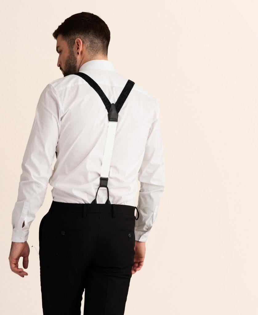Storm Cloud - Classic Black Suspenders - JJ Suspenders