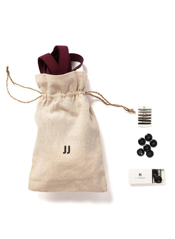 Winter Berry - Skinny Burgundy Suspenders-JJ Suspenders