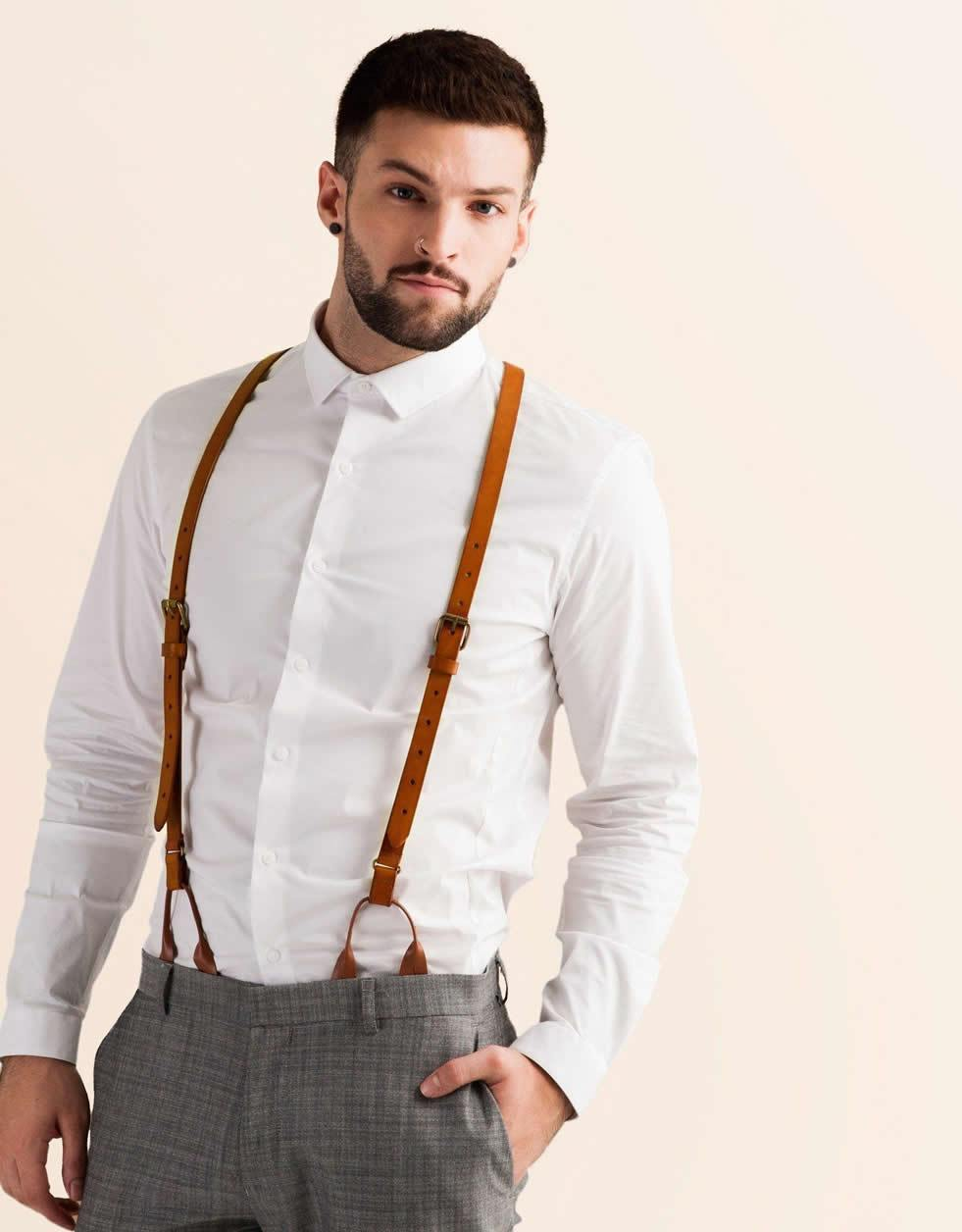 Leather Suspenders
