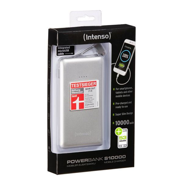 Power Bank INTENSO 7332531 10000 mAh Argento