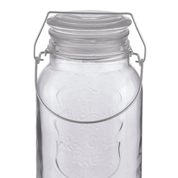 Dispenser in Vetro di Bevande Ice Cold Drink Vintage Coconut