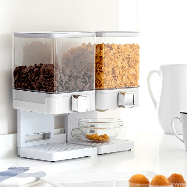 Dispenser di Cereali Doppio con Supporto