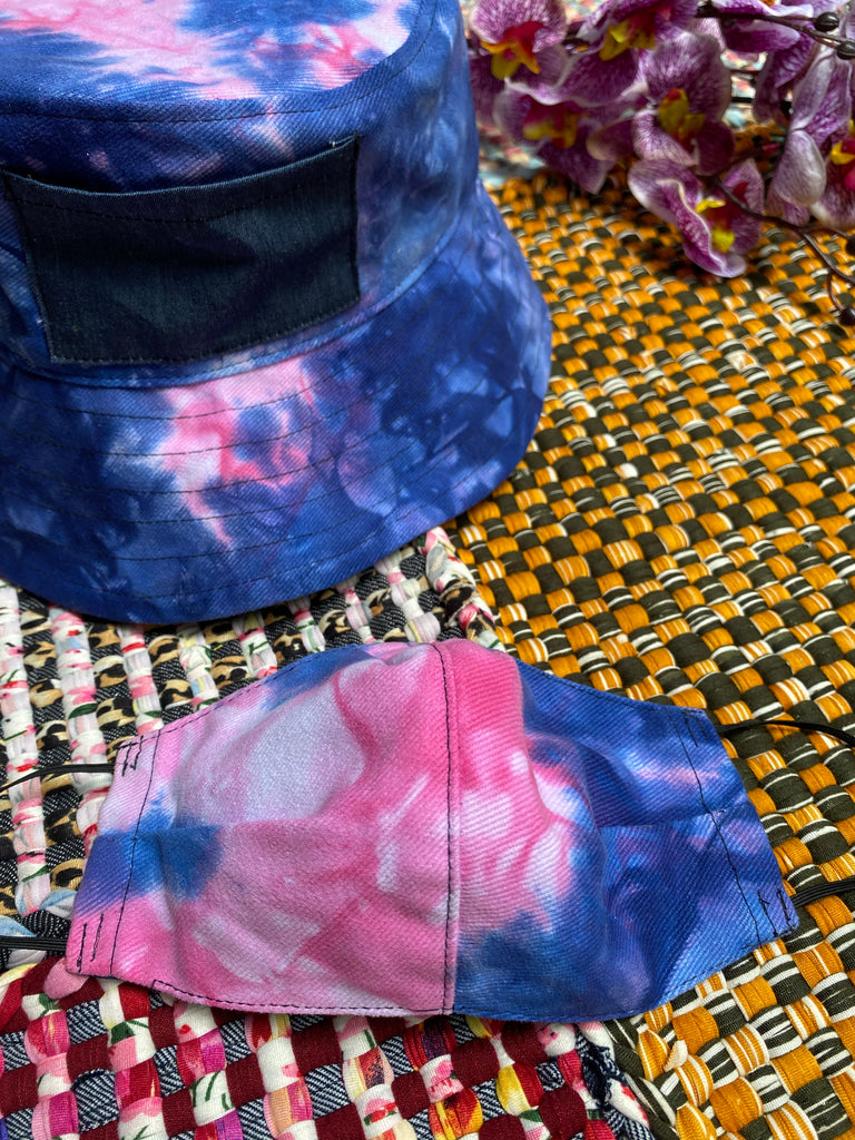 Cotton Candy Bucket Hat Set