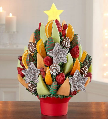Christmas Tree Treat Fruit Bouquet