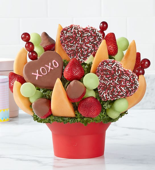 Hearts & Kisses Fruit Bouquet