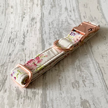 Load image into Gallery viewer, Ivory & Pink Floral Dog Collar & Lead Set