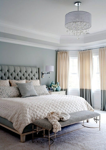 Pastel colored bedroom