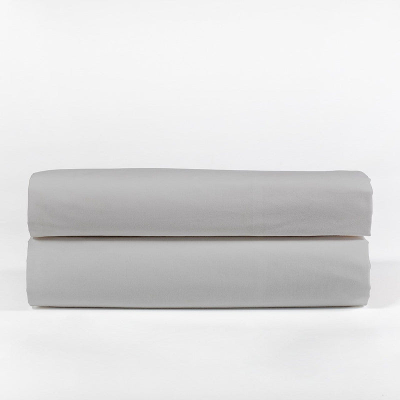 Folded Grey Bedding Set with white background