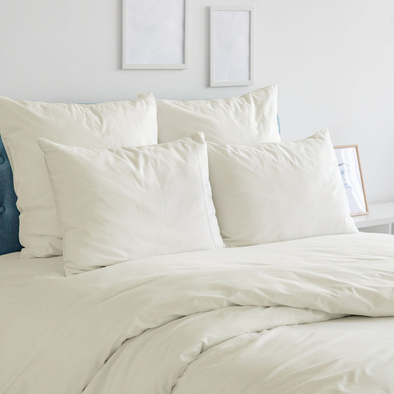 Luxurious Ivory Duvet Cover, Fitted Sheet, and Pillow Cases