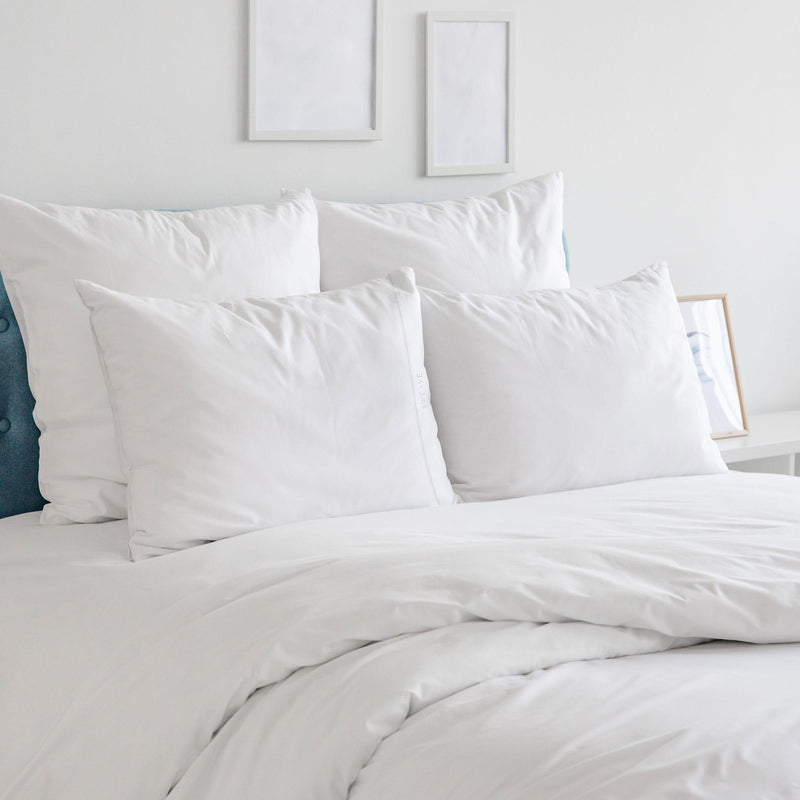 Luxurious White Duvet Cover, Fitted Sheet, and Pillow Cases
