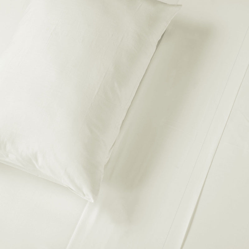 Ivory Flat Sheet and Pillow
