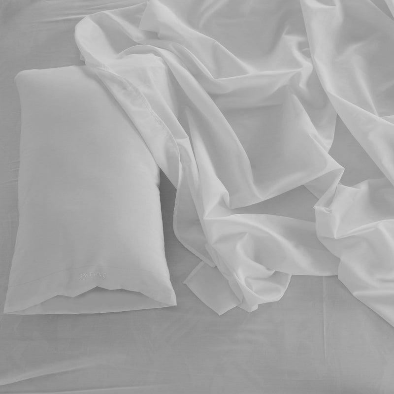 Grey Fitted Sheet with Pillow Case