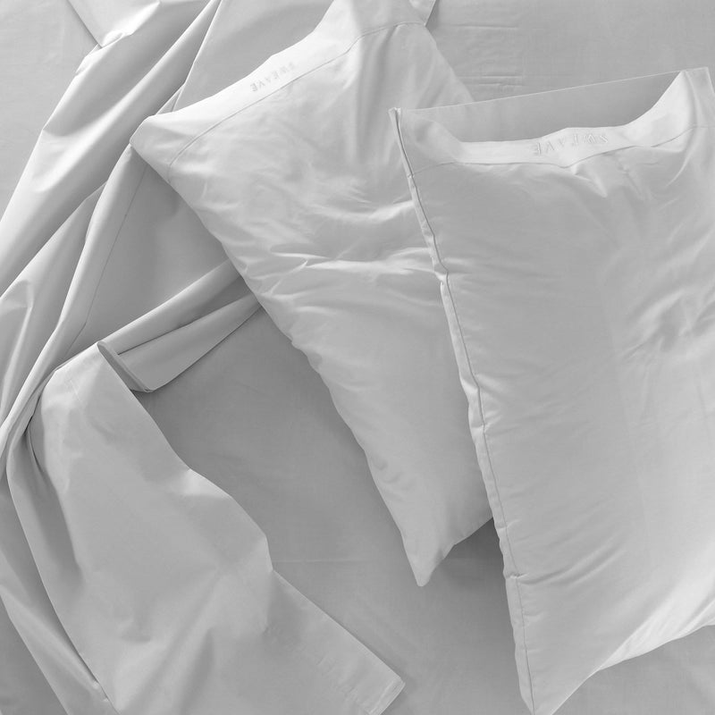 Grey Fitted Sheet with 2 Pillow Cases