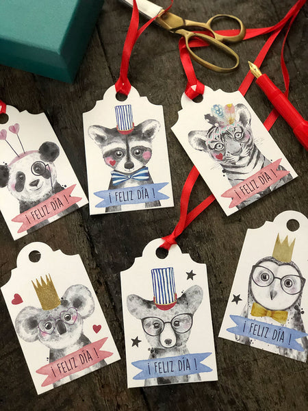 Tags de Regalo · Animales