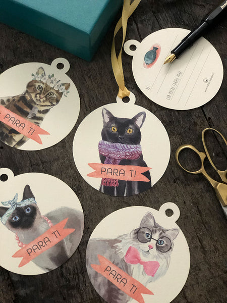 Tags de Regalo · Gatos